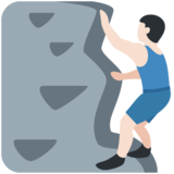Man Climbing: Light Skin Tone on Twitter Twemoji 2.6