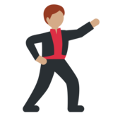Man Dancing: Medium Skin Tone on Twitter Twemoji 2.6