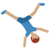 Man Cartwheeling: Medium Skin Tone on Twitter Twemoji 2.6