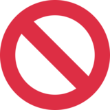 Prohibited on Twitter Twemoji 2.6