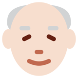 Old Man: Light Skin Tone on Twitter Twemoji 2.6