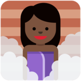 Person in Steamy Room: Dark Skin Tone on Twitter Twemoji 2.6