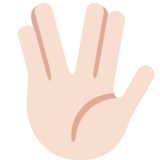 Vulcan Salute: Light Skin Tone on Twitter Twemoji 2.6