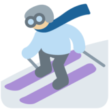 Skier, Type-3 on Twitter Twemoji 2.6