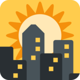 Sunset on Twitter Twemoji 2.6