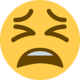 Tired Face on Twitter Twemoji 2.6