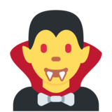 Vampire on Twitter Twemoji 2.6
