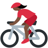 Woman Biking: Dark Skin Tone on Twitter Twemoji 2.6
