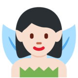 Woman Fairy: Light Skin Tone on Twitter Twemoji 2.6