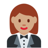 Woman in Tuxedo: Medium Skin Tone on Twitter Twemoji 2.6