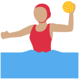 Woman Playing Water Polo: Medium Skin Tone on Twitter Twemoji 2.6