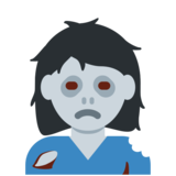 Woman Zombie on Twitter Twemoji 2.6