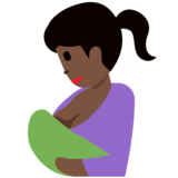 Breast-Feeding: Dark Skin Tone on Twitter Twemoji 2.7