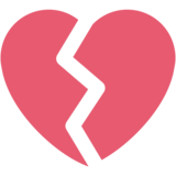 Broken Heart on Twitter Twemoji 2.7