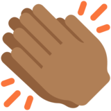 Clapping Hands: Medium-Dark Skin Tone on Twitter Twemoji 2.7