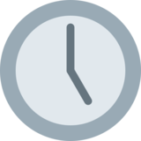 Five O'Clock on Twitter Twemoji 2.7