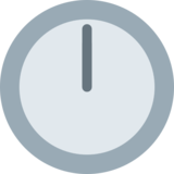 Twelve O'Clock on Twitter Twemoji 2.7