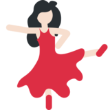 Woman Dancing: Light Skin Tone on Twitter Twemoji 2.7