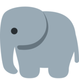 Elephant on Twitter Twemoji 2.7