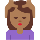 Person Getting Massage: Medium-Dark Skin Tone on Twitter Twemoji 2.7