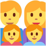 Family: Man, Woman, Girl, Boy on Twitter Twemoji 2.7