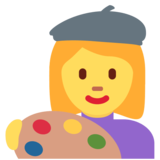 Woman Artist on Twitter Twemoji 2.7