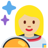 Woman Astronaut: Medium-Light Skin Tone on Twitter Twemoji 2.7