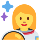 Woman Astronaut on Twitter Twemoji 2.7