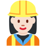 Woman Construction Worker: Light Skin Tone on Twitter Twemoji 2.7