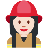 Woman Firefighter: Light Skin Tone on Twitter Twemoji 2.7