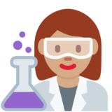 Woman Scientist: Medium Skin Tone on Twitter Twemoji 2.7