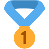 1st Place Medal on Twitter Twemoji 2.7