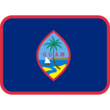 Flag: Guam on Twitter Twemoji 2.7