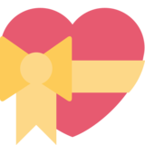 Heart With Ribbon on Twitter Twemoji 2.7