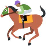 Horse Racing: Medium-Dark Skin Tone on Twitter Twemoji 2.7