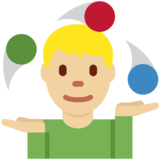 Person Juggling: Medium-Light Skin Tone on Twitter Twemoji 2.7