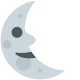 Last Quarter Moon Face on Twitter Twemoji 2.7