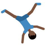 Man Cartwheeling: Dark Skin Tone on Twitter Twemoji 2.7