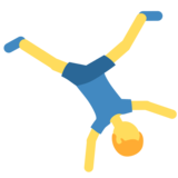 Man Cartwheeling on Twitter Twemoji 2.7