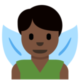 Man Fairy: Dark Skin Tone on Twitter Twemoji 2.7