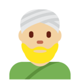 Person Wearing Turban: Medium-Light Skin Tone on Twitter Twemoji 2.7