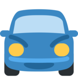 Oncoming Automobile on Twitter Twemoji 2.7