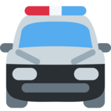 Oncoming Police Car on Twitter Twemoji 2.7