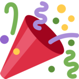 Party Popper on Twitter Twemoji 2.7