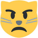 Pouting Cat Face on Twitter Twemoji 2.7