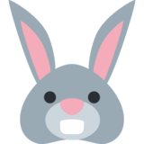 Rabbit Face on Twitter Twemoji 2.7
