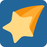 Shooting Star on Twitter Twemoji 2.7