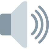 Speaker High Volume on Twitter Twemoji 2.7