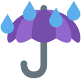 Umbrella with Rain Drops on Twitter Twemoji 2.7