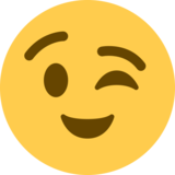 Winking Face on Twitter Twemoji 2.7